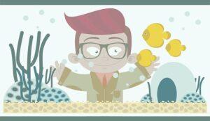 mimpi ikan di akuarium