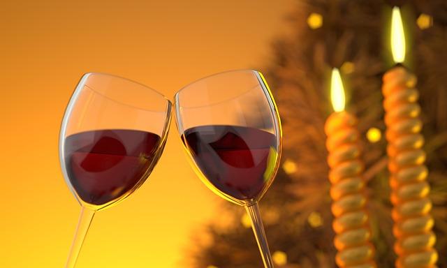 minum anggur